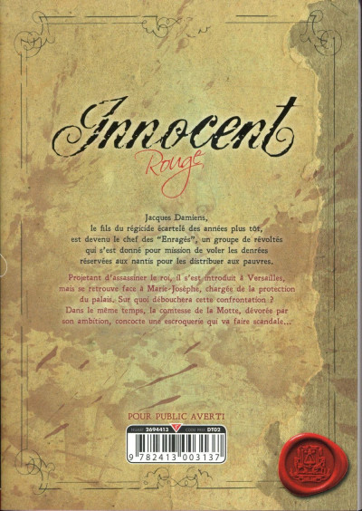 Dos Innocent - Rouge tome 5