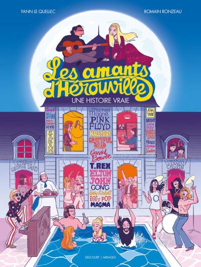 Couverture Les amants d'Hérouville + ex-libris offert