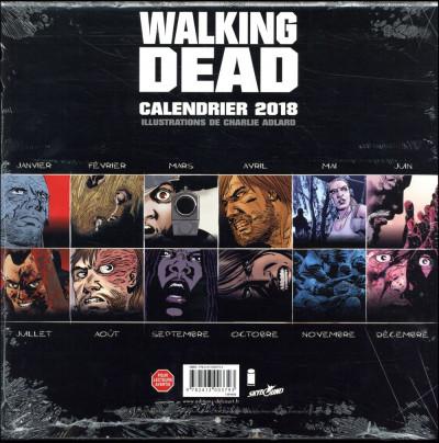 Dos Walking dead - calendrier 2018