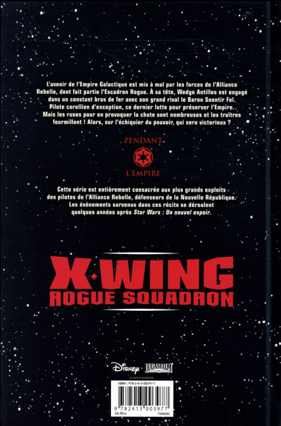 Dos Star wars - X-wing rogue squadron - intégrale tome 3