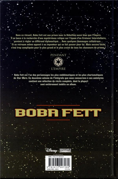 Dos Star Wars - Boba Fett intégrale tome 2
