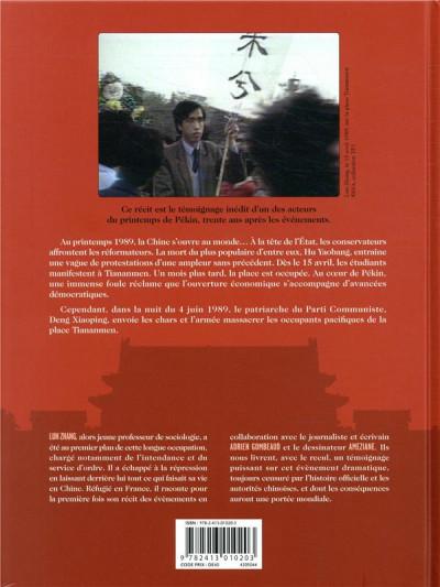 Dos Tiananmen 1989 - Nos espoirs brisés