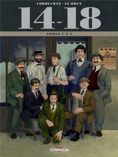Couverture 14-18  -  coffret tomes 1 à 5