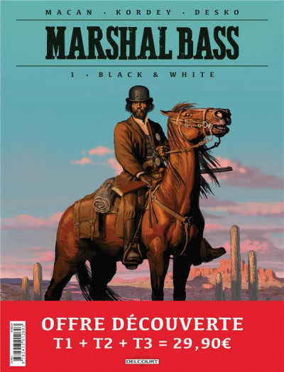 Couverture Marshal Bass - pack tomes 1 à 3 + ex-libris offert