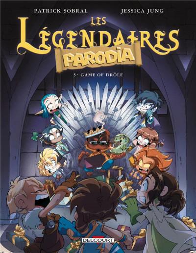 Couverture Les légendaires - parodia tome 5