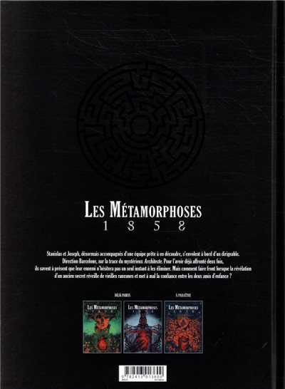 Dos Les métamorphoses 1858 tome 2 + ex-libris offert