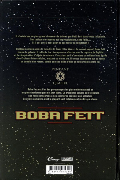 Dos Star wars - Boba Fett - intégrale tome 3