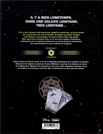 Dos Star wars - Solo (jeunesse)