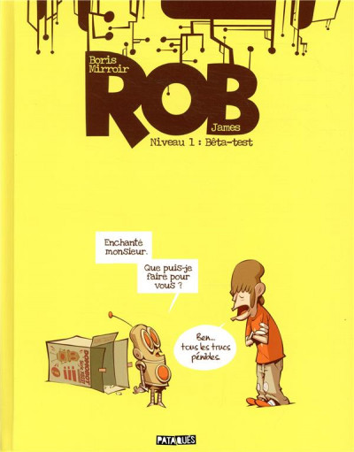 Couverture Rob tome 1 - Bêta-test