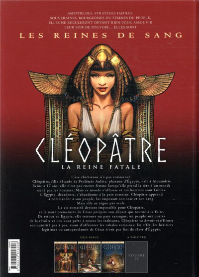 Dos Les reines de sang - Cléopâtre, la reine fatale tome 3