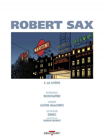 Page 1 Robert Sax tome 5