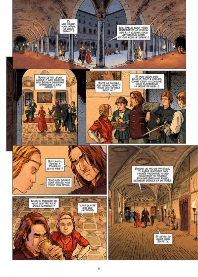 Page 8 Les reines de sang - Catherine Sforza, la lionne de Lombardie tome 1