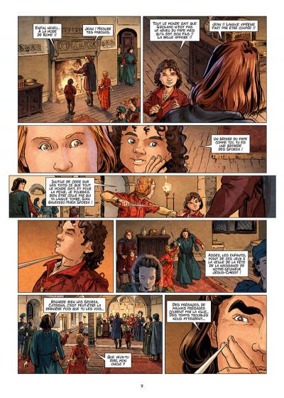 Page 9 Les reines de sang - Catherine Sforza, la lionne de Lombardie tome 1