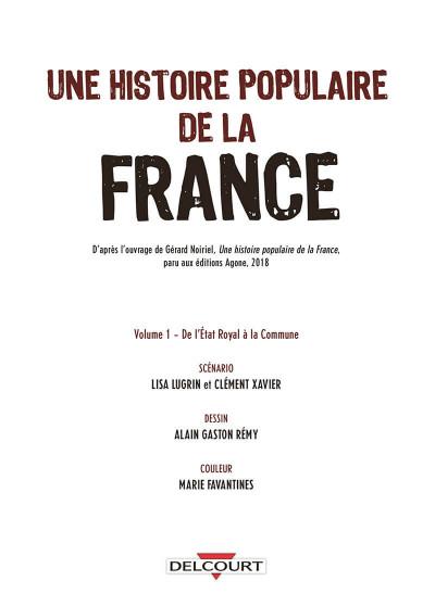 Page 1 Une histoire populaire de la France tome 1