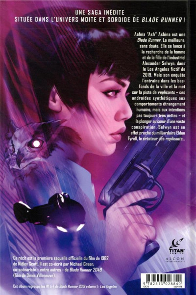 Dos Blade runner 2019 tome 1