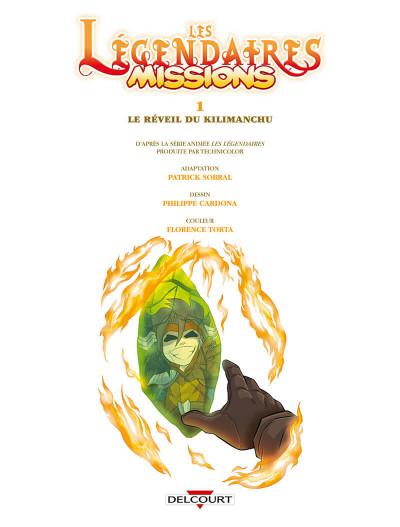 Page 4 Les Légendaires - missions tome 1
