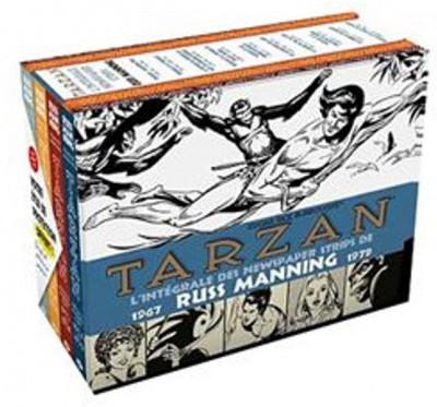 Couverture Tarzan - newspaper strips - coffret Intégrale tome 1 à tome 4 - 1967-1979