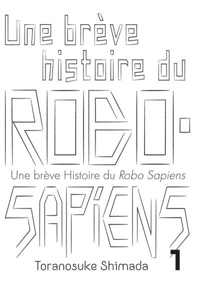 Page 2 Une brève histoire du robo sapiens tome 1