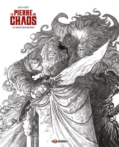 Couverture La pierre du chaos - édition noir & blanc tome 1
