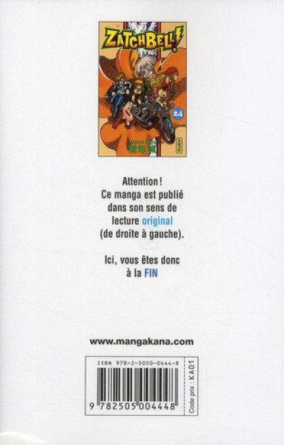 Dos zatchbell tome 24
