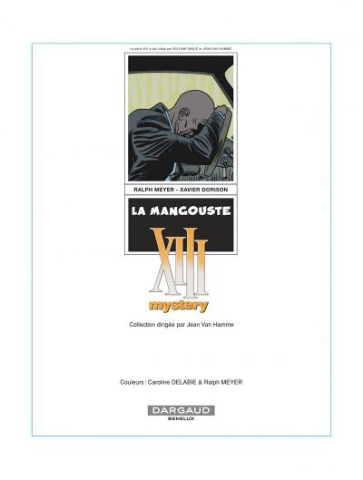 Page 1 xiii mystery tome 1 - la mangouste