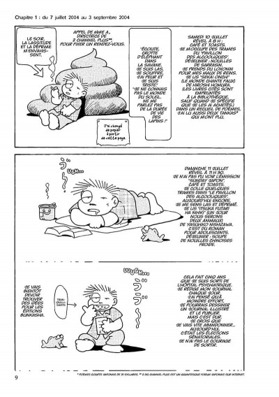 Page 0 journal d'une dépression