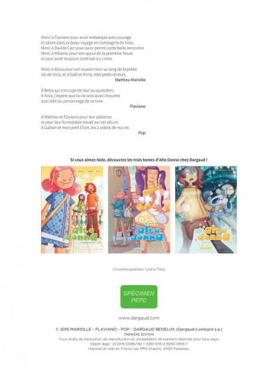 Page 2 Nola tome 1 - une vie pleine de mystères