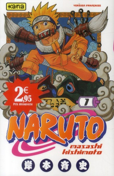 Couverture naruto tome 1 - opération 2,95€