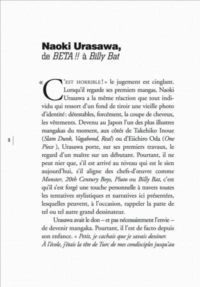 Page 3 histoires courtes de Naoki Urasawa
