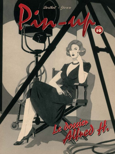 Couverture pin-up tome 10 - édition luxe N&B - le dossier Alfred H.