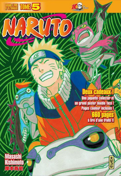 Couverture naruto tome 5 - édition collector 10 ans