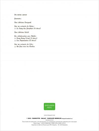 Page 1 le sang des Porphyre tome 6 - crépuscule