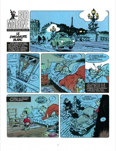 Page 2 Bob Marone tome 1 - le dinosaure blanc