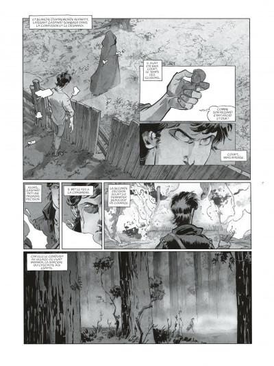 Page 7 Sortilèges Tomes 1 et 2 (N&B) + ex-libris numéroté et signé !