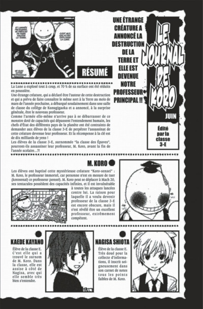 Page 4 assassination classroom tome 4