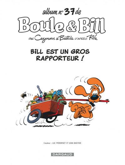 Page 1 Boule et Bill tome 37
