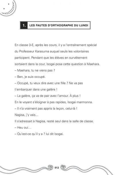 Page 8 Assassination classroom - Manuel de vocabulaire en anglais