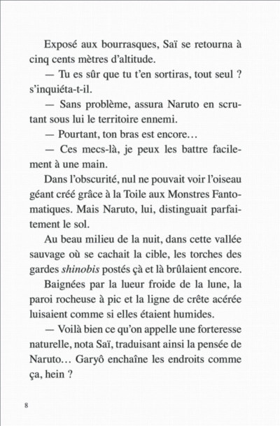 Page 8 Naruto - Le roman de Kakashi