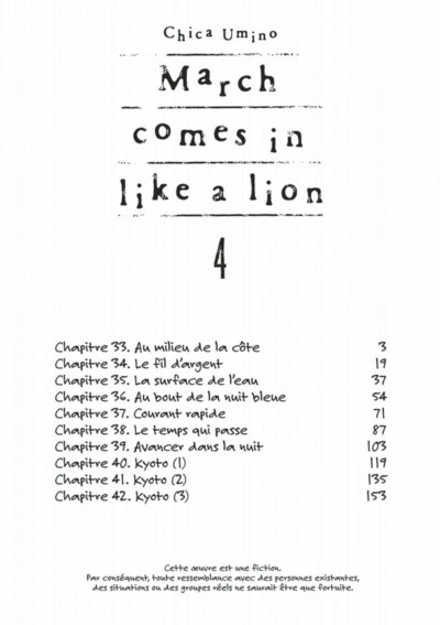 Page 2 March comes in like a lion tome 4
