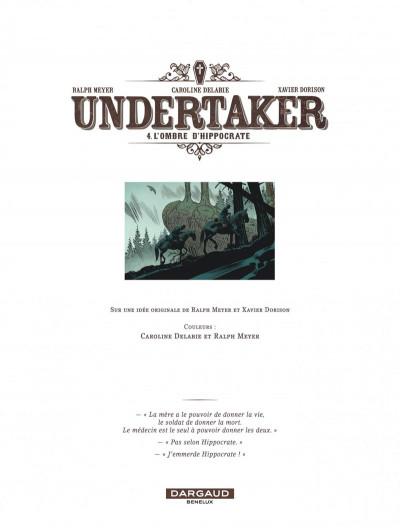 Page 3 Undertaker tome 4 + ex-libris offert