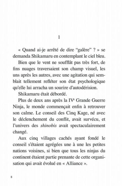 Page 8 Naruto - Le roman de Shikamaru