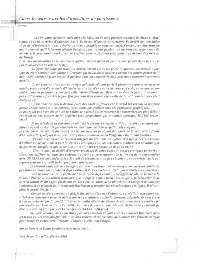 Page 3 La vengeance du comte Skarbek - intégrale