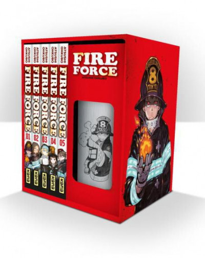 Page 1 Fire force - coffret tomes 1 à 5 + thermos