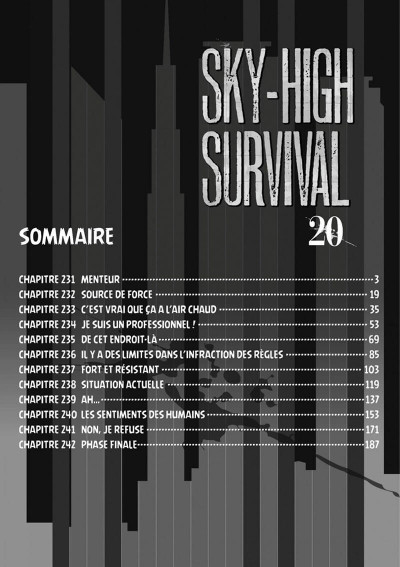 Page 2 Sky-high survival tome 20