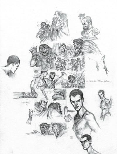 Page 9 Murena - version crayonnée tome 11