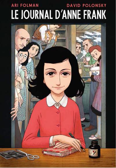 Couverture Le journal d'Anne Frank - roman graphique