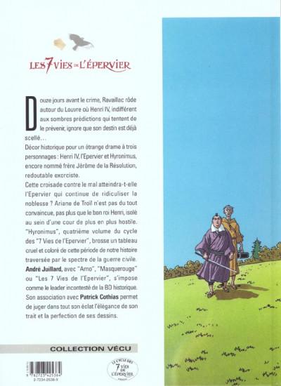 Dos Les 7 vies de l'epervier tome 4 - hydronimus