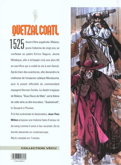 Dos quetzalcoatl tome 1 - deux fleurs de maïs