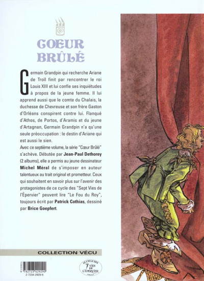 Dos coeur brulé tome 7 - le comte de saint germain