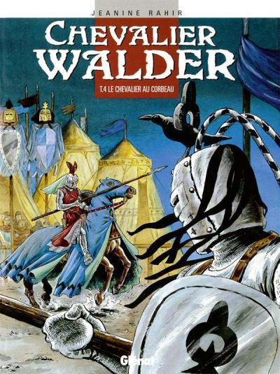 Couverture chevalier walder tome 4 - le chevalier au corbeau